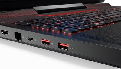 Detalle conexiones del portátil Lenovo Ideapad Y910