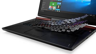 Detalle del teclado del portátil Lenovo Ideapad Y910
