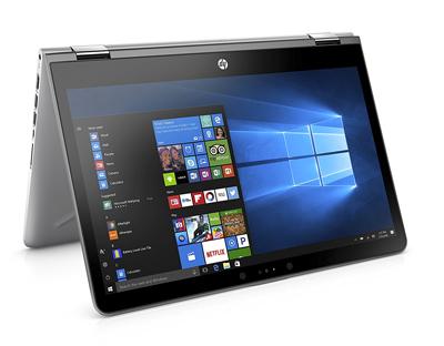 Portátil HP Pavilion x360 semiplegado