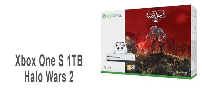 Consola Xbox One S 1TB más Halo Wars 2