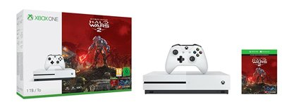 Vista general de la Consola Xbox One S 1TB más Halo Wars 2