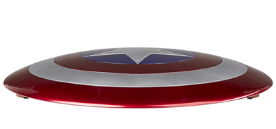 Vista lateral del Escudo del Capitán América