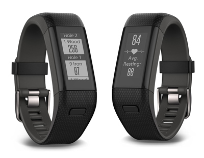 Vista general de la pulsera GPS Garmin Approach X40 para golf.