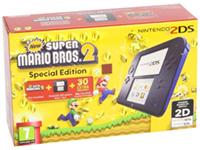 Nintendo 2DS con juego New Super Mario Bros 2 en color Azul