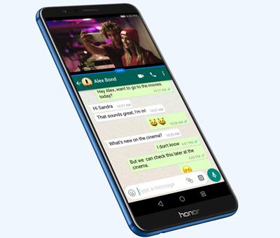 Pantalla dividida del SmartPhone Honor 7X