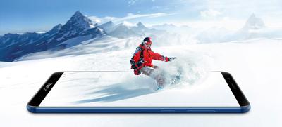 Pantalla infinita del SmartPhone Honor 7X