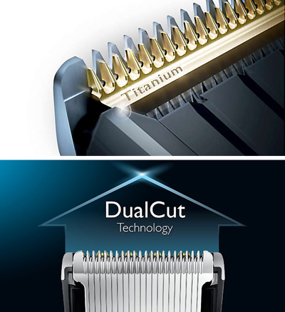 Detalle de las cuchillas del Cortapelos Philips HC9490