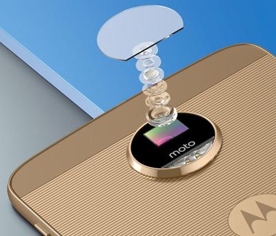 Cámara trasera del móvil Moto Z con estabilizador óptico y enfoque automático láser